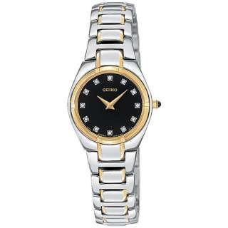 New Seiko Womens SUJF30 Diamond Two Tone Watch