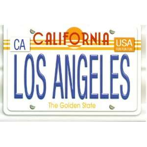 508 SOUTHERN CALIFORNIA LOS ANGELES LICENSE PLATE POSTCARD   BRAND