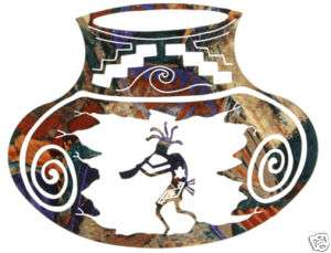 KOKOPELLI SOUTHWEST POTTERY METAL ART WALL HANGING