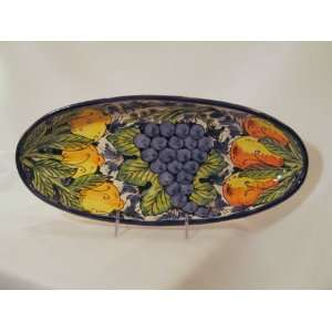 Large Oval Platter   Fruit Design by Le Souk Ceramique: