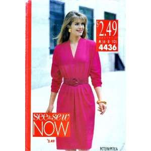 See & Sew 4436 Sewing Pattern Womens Loose Fitting Dress