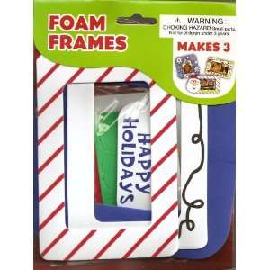 Christmas Foam Picture Frames Craft Kit   Santa, Snowflakes, Christmas