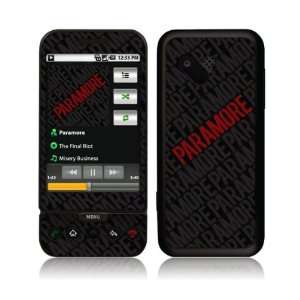 HTC T Mobile G1  Paramore  Logo Skin: Cell Phones & Accessories