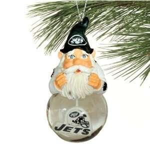 New York Jets Light Up Snow Globe Gnome Ornament Sports