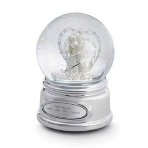 Personalized Wedding Bisque Snow Globe Gift