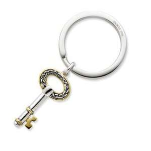 Sterling Silver and Gold plated Key To Success With Stainless Steel