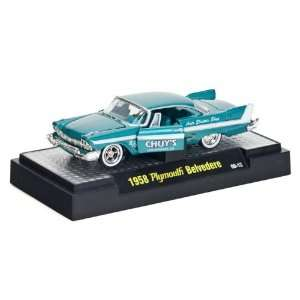 1958 Plymouth Belvedere 1/64 Turquoise w/Display Case