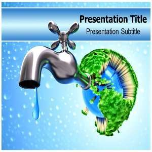 Save Water PowerPoint Template   Backgrounds on PowerPoint Templates