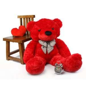 Cuddles Soft and Huggable Bright Red Teddy Bear 46in Toys & Games