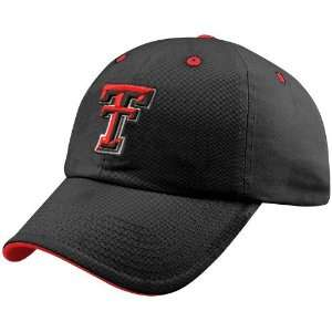 Top of the World Texas Tech Red Raiders Black Crew Adjustable Hat