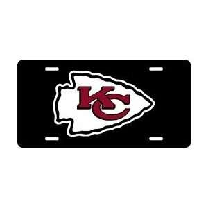 Kansas City Chiefs Laser Cut Black License Plate Sports