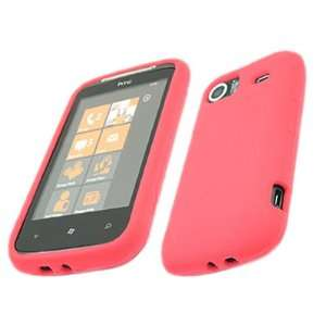SoftSkin RED Silicone Case Cover Skin for HTC Mozart 7 Electronics