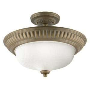 Westinghouse 64209   1 Light Cozumel Gold Ceiling Semi Flush Mount