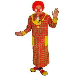 Clown 6pc Deluxe Fancy Dress Costume & Giant Shoes Toys