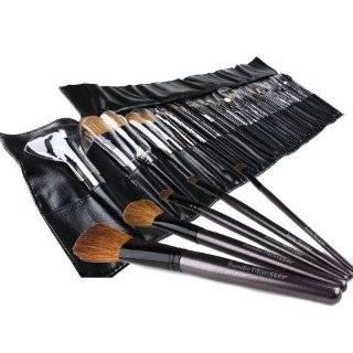 Brush Set Kit w/ Leather Case   For Eye Shadow, Blush, Concealer, Etc