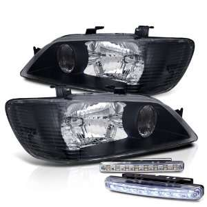 Eautolight 02 03 Mitsubishi Lancer JDM Black Head Lights