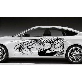 Anime Car Vinyl Graphics Sexy Samurai Warrior Girl 058