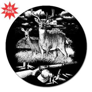 Sticker (48 Pack) Deer Hunting Buck Doe Rifle and Hat: Everything Else