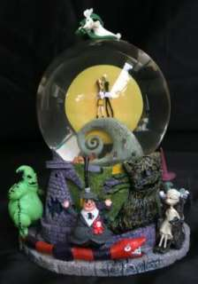NIGHTMARE BEFORE CHRISTMAS HILLTOP SNOW GLOBE 1997