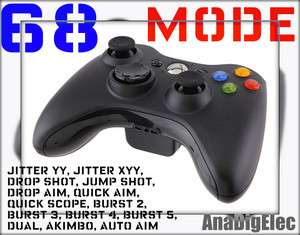 XBOX 360 BEST RAPID FIRE BLACK MODDED CONTROLLER FOR MW3 MW2 BLACK OPS