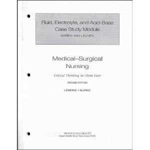 Fluid, Electrolyte, and Acid Base Case Study Module