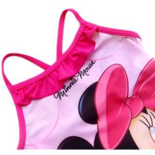 Baby Kids Girls Pink 1 Pcs Minnie Mouse Swimsuit Swimwear 2 9 Years