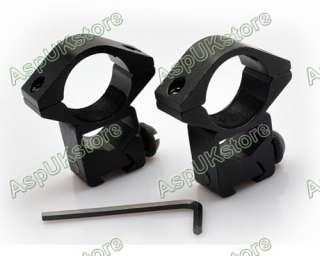 25mm High QD Scope/Flashlight Ring Mount 11mm Rail