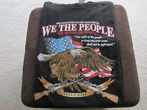 2nd Amendment T Shirt We the People with Guns, Eagle and American Flag