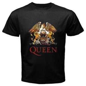 QUEEN Legendary Rock Band Mens Black T Shirt Size S   3XL