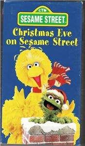 CHRISTMAS EVE ON SESAME STREET VHS VIDEO