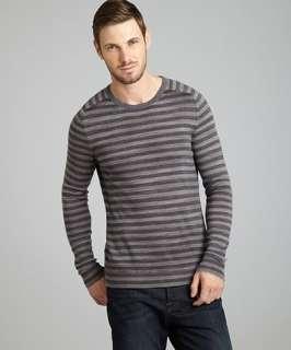 Elie Tahari gargoyle striped merino wool Roberto crewneck sweater