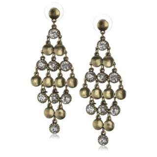 Leslie Danzis Gold And Crystal Chandelier Earrings   designer shoes