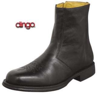 Mens DI04490 8 Nappa Leather Black Side Zipper Boots 11D New