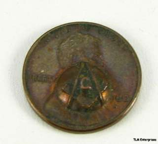 MASONIC PENNY   Square Compass Gift PENNY COIN