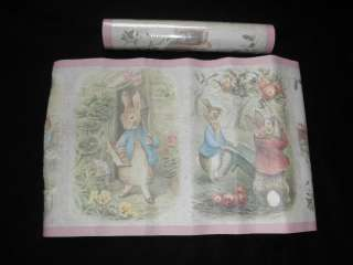 Beatrix Potter Pink Bunny Rabbit Wall Wallpaper Border Roll Kids Baby