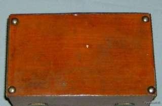 Wood & Metal Fruit Decor Trinket / Jewelry Box