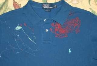 Mens Polo RALPH LAUREN Painted Custom Fit Polo Shirt XL