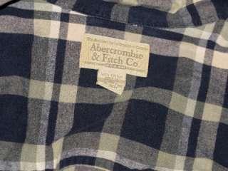 Vtg Abercrombie&Fitch Plaid Top Tunic Oversized Shirt sexy boyfriend