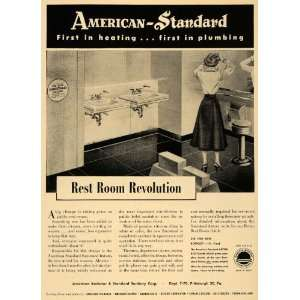 1950 Ad American Radiator Standard Sanitation Plumbing