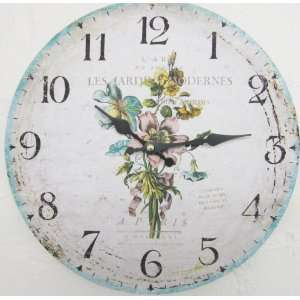SHABBY PINK BLUE RUSTIC CHIC CLOCK KITCHEN HOUSE COTTAGE