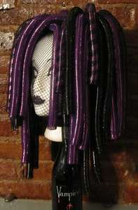 Dreads Purple Cyber Goth Rave Cosplay Wig Cyberlox