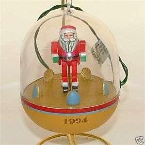 Hallmark 1994 Dancing Santa ornaments Magic