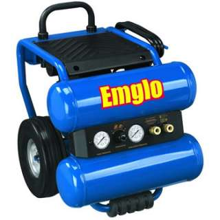 Emglo 1.1 HP 4 Gallon Oil Lube Dolly Style Twinstack Air Compressor