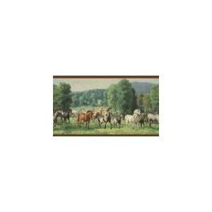 Horses Burgundy Wallpaper Border in For Men Only Home Improvement