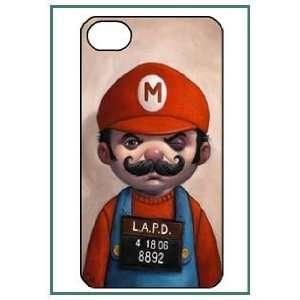 Mario Game iPhone 4 iPhone4 Black Designer Hard Case Cover