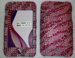 Rhinestone Zebra 3rd Generation Ipod Touch 3g Case Pink Hot Pink Cover