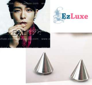 Korean BIG BANG BIGBANG Rocekt Cone Magnetic Earrings ★