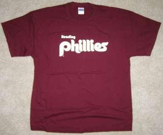 Reading Phillies Mike Schmidt #24 Maroon Retro Shirt SGA