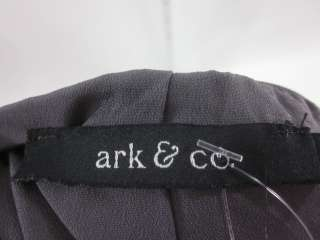 NWT ARK & CO Gray One Shoulder Strap Ruched Dress Sz L