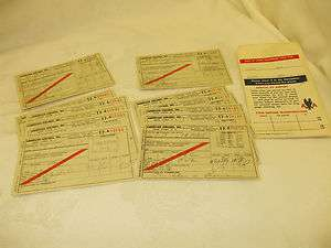 AMERICAN AIRLINES 1950S VINTAGE AIRLINE TICKETS A LOT OF 13 ITEMS